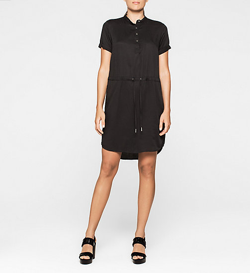 CKJEANS Drawstring Shirt Dress - CK BLACK - CK JEANS DRESSES - main image