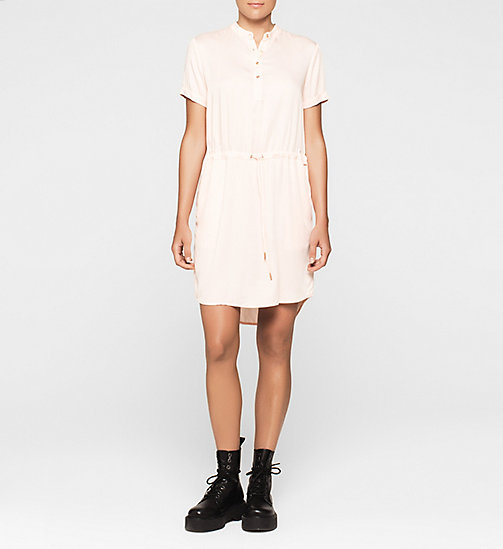 Drawstring Shirt Dress - PALE DOGWOOD - CK JEANS DRESSES - main image