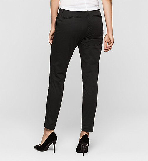 Slim Chino Trousers - CK BLACK - CK JEANS TROUSERS - detail image 1