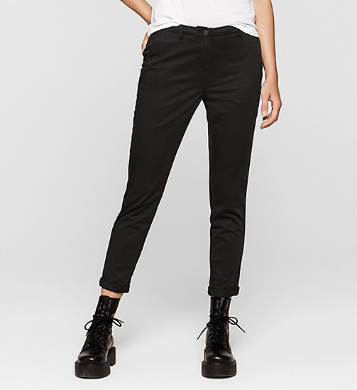 Slim Chino Trousers - CK BLACK - CK JEANS TROUSERS - main image