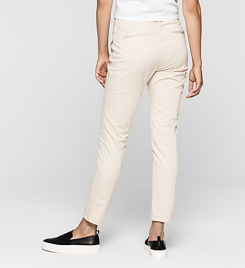 CALVINKLEIN Slim Chino Trousers - MOONBEAM - CK JEANS TROUSERS - detail image 1