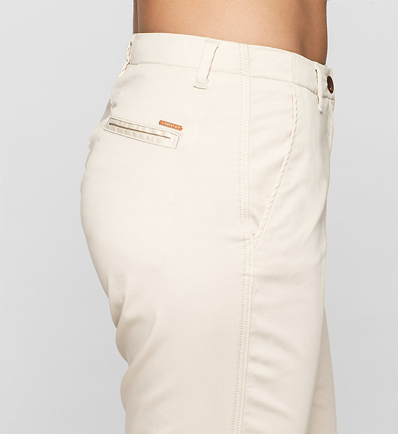 CKJEANS Slim Chino Trousers - MOONBEAM - CK JEANS CLOTHES - detail image 2
