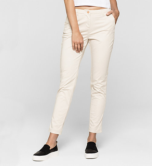 CALVINKLEIN Slim Chino Trousers - MOONBEAM - CK JEANS TROUSERS - main image