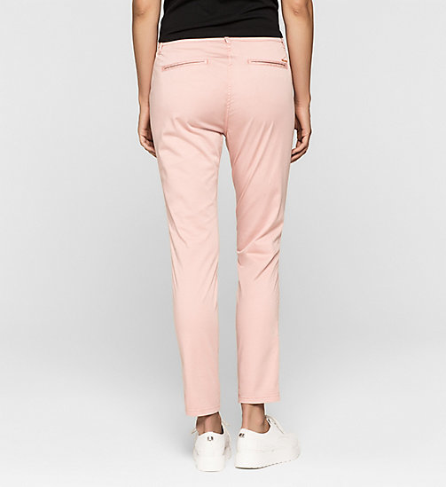 CALVINKLEIN Slim Chino Trousers - MELLOW ROSE - CK JEANS TROUSERS - detail image 1