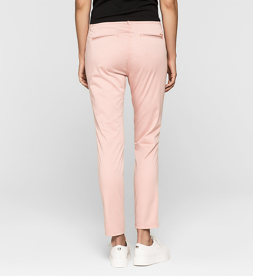 CKJEANS Slim Chino Trousers - MELLOW ROSE - CK JEANS CLOTHES - detail image 1