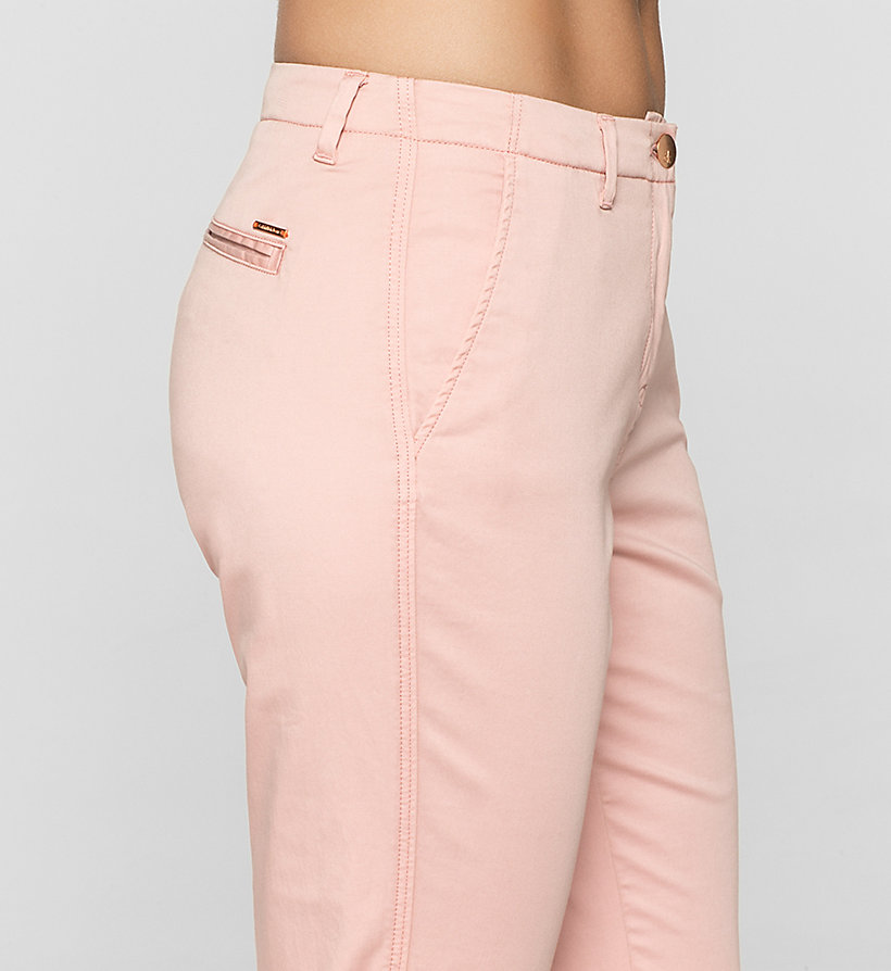 CKJEANS Slim Chino Trousers - MELLOW ROSE - CK JEANS CLOTHES - detail image 2