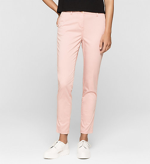 CALVINKLEIN Slim Chino Trousers - MELLOW ROSE - CK JEANS TROUSERS - main image