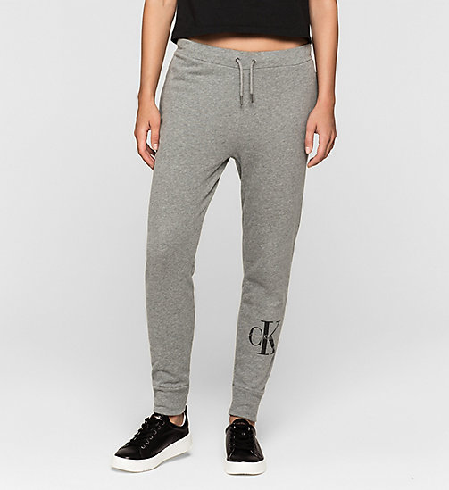 Pantaloni da tuta con logo - LIGHT GREY HEATHER - CK JEANS PANTALONI - immagine principale