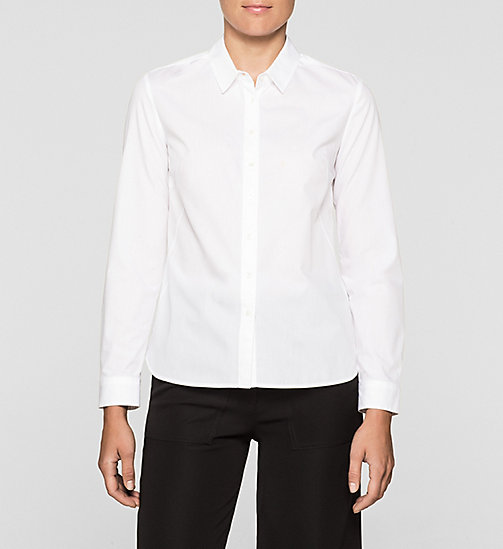 Poplin Shirt - BRIGHT WHITE - CK JEANS SHIRTS - main image