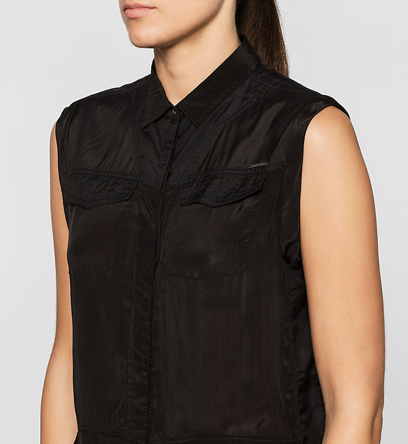 CKJEANS Sleeveless Satin Shirt - CK BLACK - CK JEANS CLOTHES - detail image 2