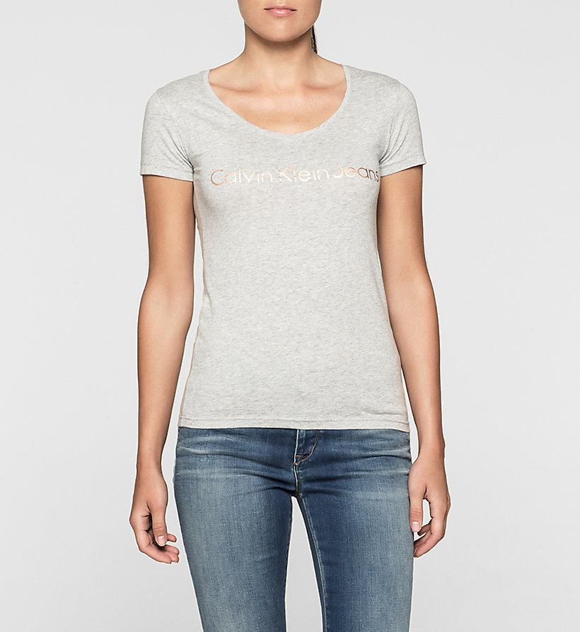 CKJEANS Camiseta slim con logo - LIGHT GREY HEATHER - CK JEANS CAMISETAS - imagen principal