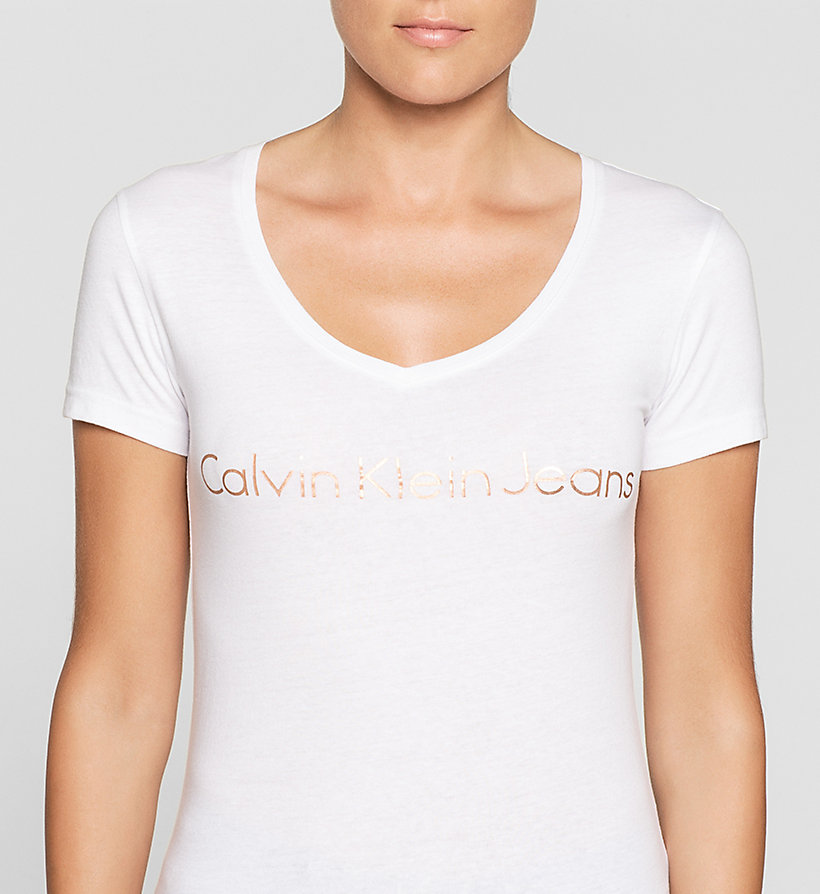 CKJEANS Slim Logo-T-Shirt - BRIGHT WHITE - CK JEANS T-SHIRTS - main image 2