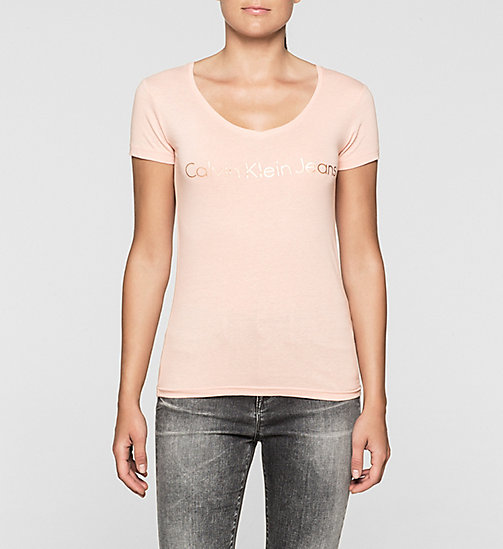 Slim T-shirt met logo - MELLOW ROSE - CK JEANS T-SHIRTS - main image