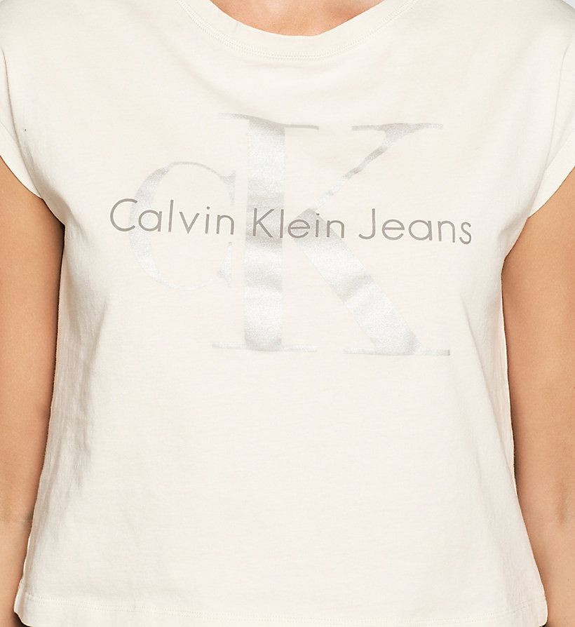 CKJEANS Cropped Logo T-shirt - MOONBEAM - CK JEANS CLOTHES - detail image 2