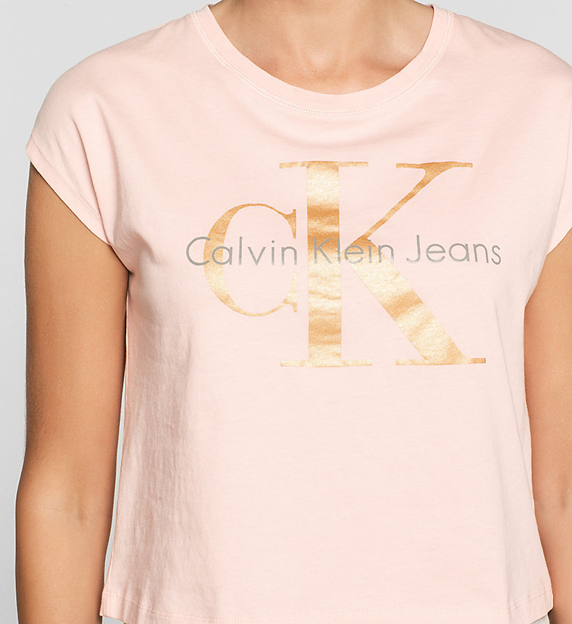 CKJEANS Cropped Logo T-shirt - MELLOW ROSE - CK JEANS CLOTHES - detail image 2