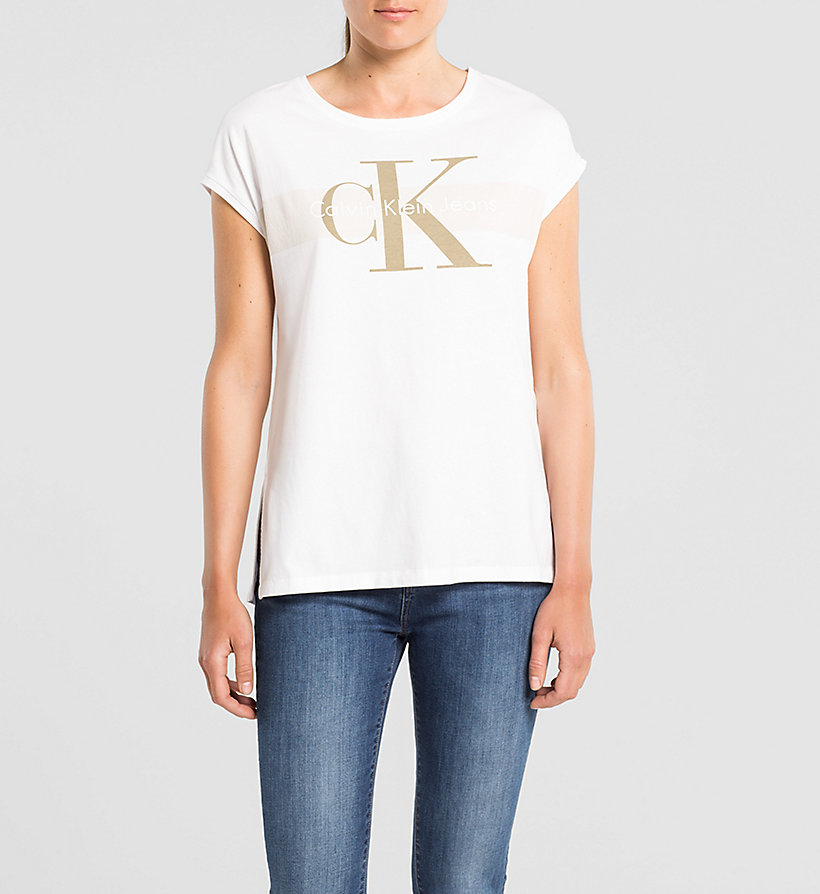 CKJEANS Straight Logo T-shirt - LIGHT GREY HEATHER - CK JEANS T-SHIRTS - main image