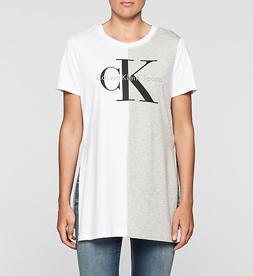 Relaxed Logo-T-Shirt - BRIGHT WHITE - CK JEANS T-SHIRTS - main image