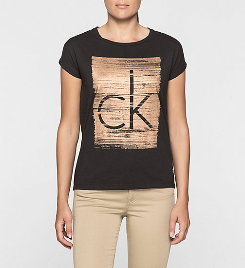 CKJEANS Straight Logo T-shirt - CK BLACK - CK JEANS SHORT SLEEVE T-SHIRTS - main image