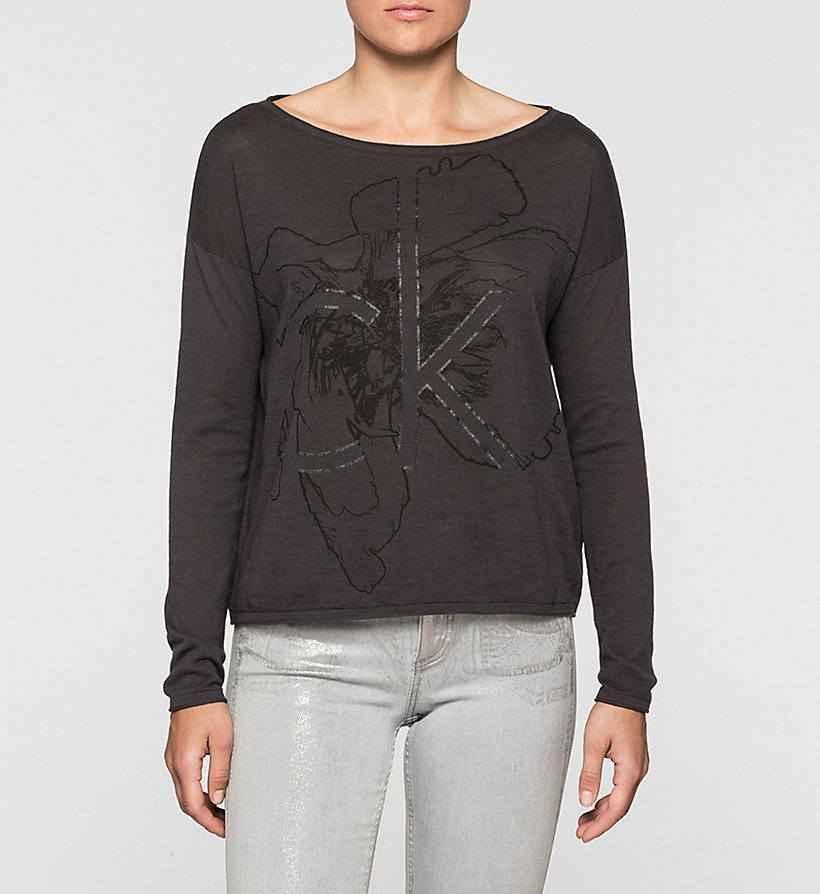 CKJEANS Intarsia Logo Sweater - CK BLACK - CK JEANS JUMPERS - main image