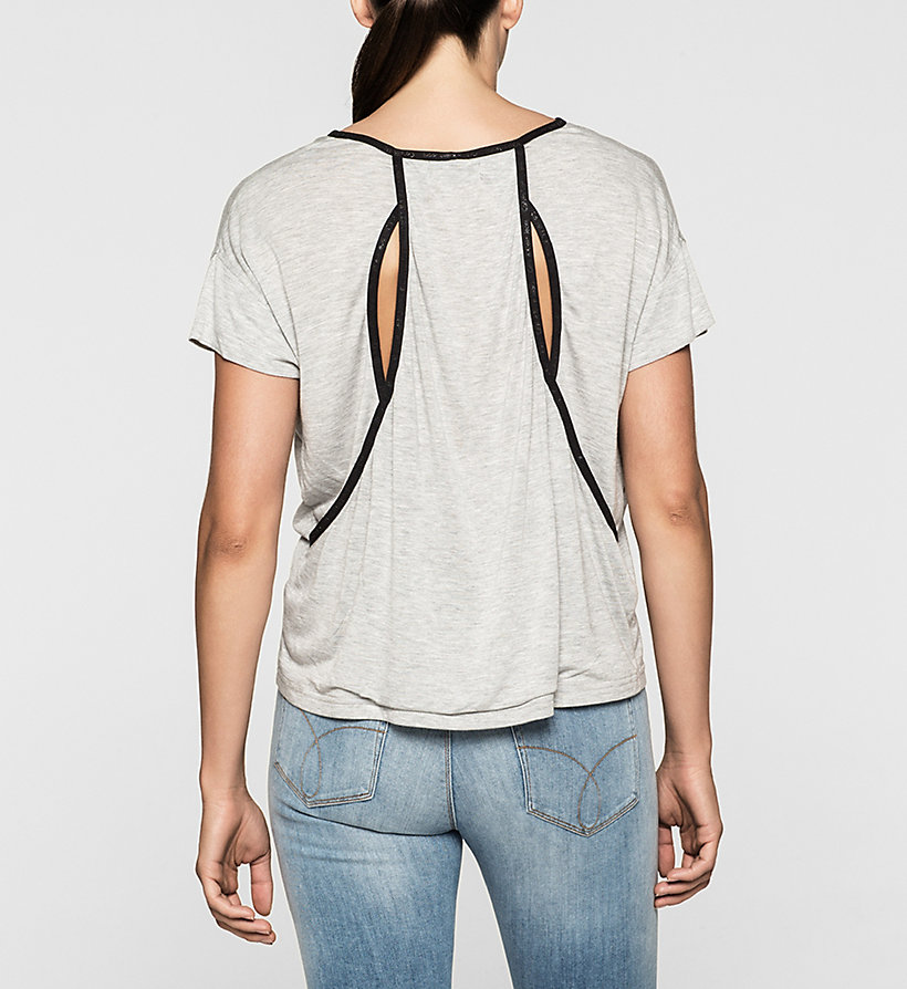 CKJEANS Boxy Cut-Out T-Shirt - LIGHT GREY HEATHER BC04 - VOL39 - CK JEANS T-SHIRTS - main image 1
