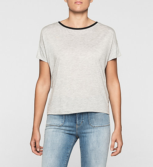 T-shirt boxy ajouré - LIGHT GREY HEATHER BC04 - VOL39 - CK JEANS T-SHIRTS - image principale