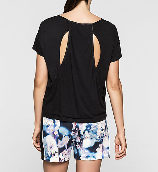 Boxy Cut-Out T-shirt - TOMMY BLACK - CK JEANS  - detail image 1