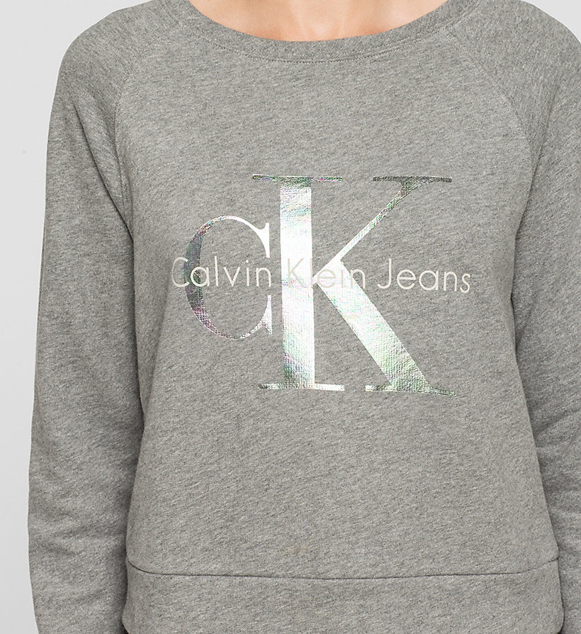 CKJEANS Sweatshirt met logo - LIGHT GREY HEATHER - CK JEANS KLEDING - detail image 2