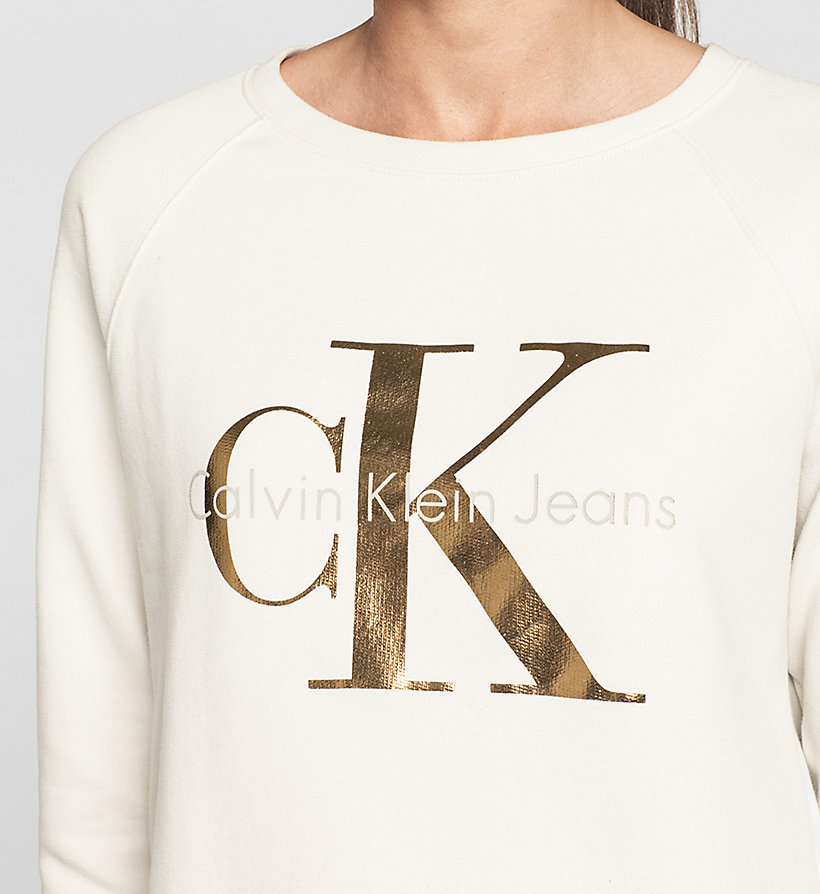 CKJEANS Logo Sweatshirt - MOONBEAM - CK JEANS CLOTHES - detail image 2