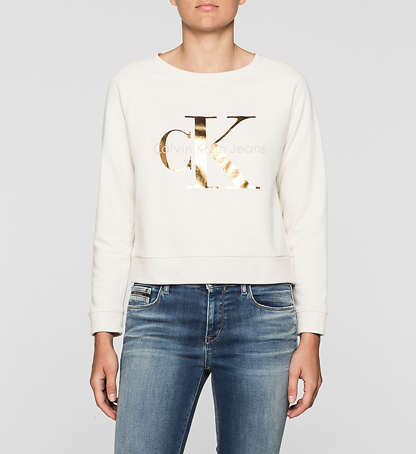 CKJEANS Logo Sweatshirt - MOONBEAM - CK JEANS CLOTHES - main image