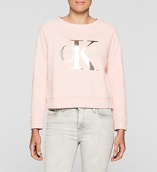 Sweat-shirt avec logo - MELLOW ROSE - CK JEANS SOUS-VÊTEMENTS - image principale
