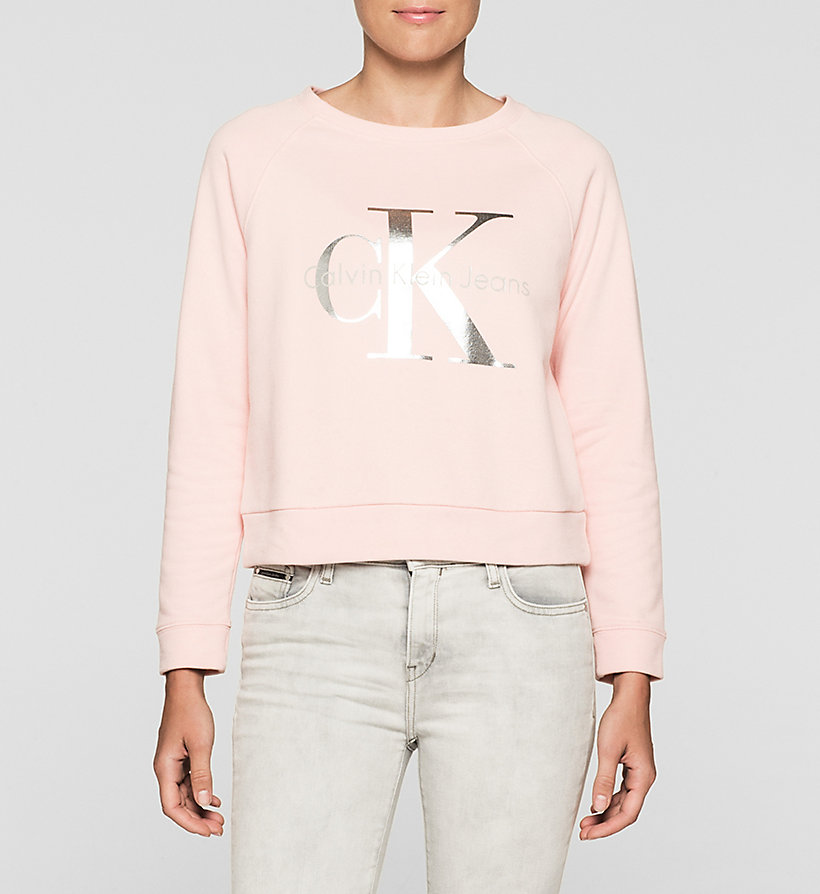 CKJEANS Logo Sweatshirt - MELLOW ROSE - CK JEANS CLOTHES - main image