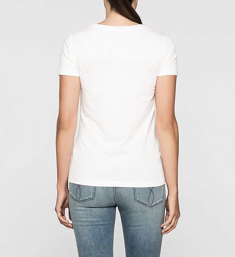 CKJEANS Fitted Floral Logo T-shirt - BRIGHT WHITE - CK JEANS CLOTHES - detail image 3