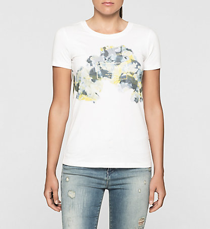 CALVIN KLEIN JEANS Fitted Floral Logo T-shirt J20J204841112