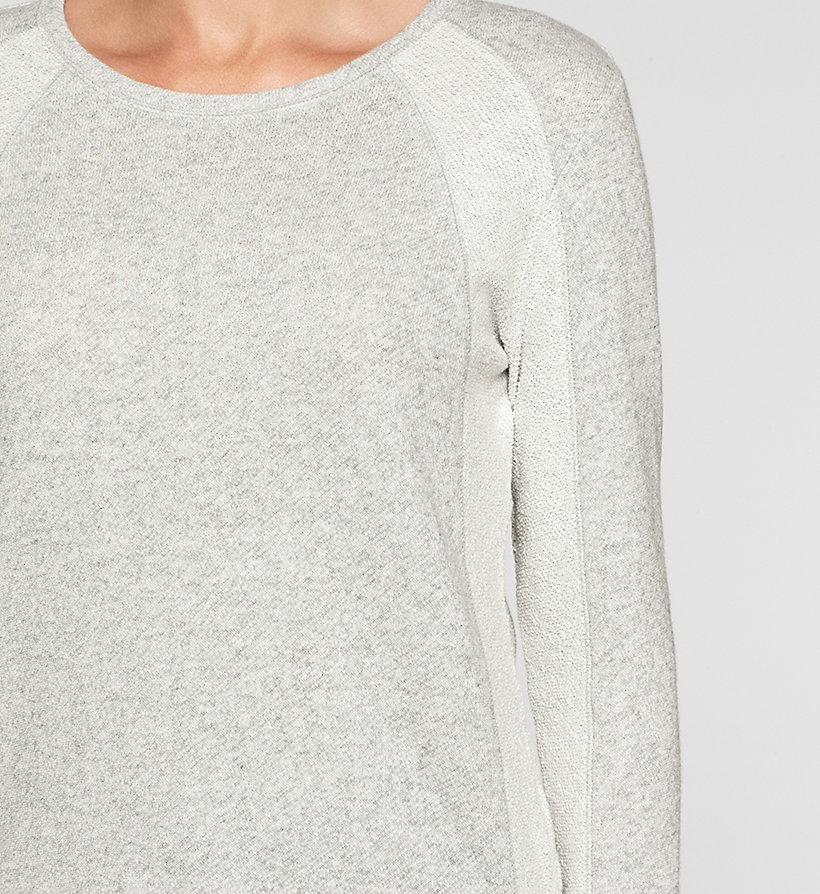 CKJEANS Panelled Sweatshirt - LIGHT GREY HEATHER BC04 - VOL39 - CK JEANS UNDERWEAR - detail image 2