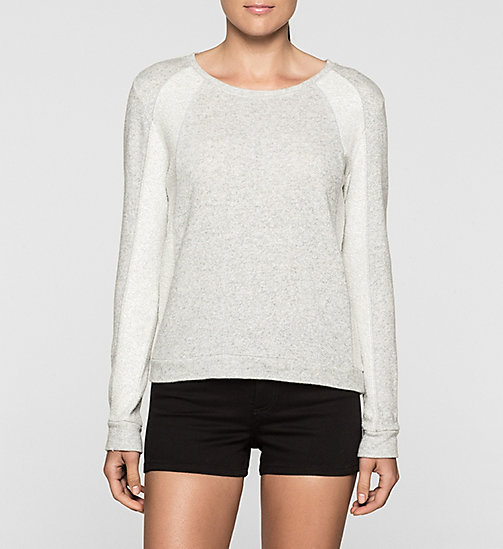 CKJEANS Panelled Sweatshirt - LIGHT GREY HEATHER BC04 - VOL39 - CK JEANS Up to 50% - main image