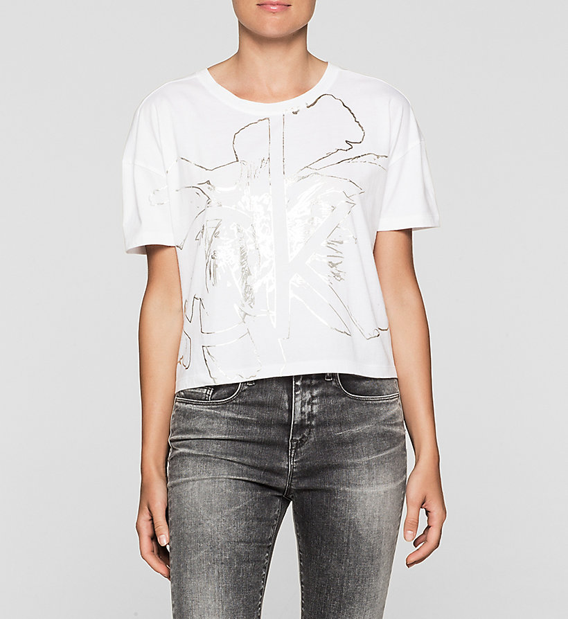 CKJEANS Cropped Logo T-shirt - BRIGHT WHITE - CK JEANS CLOTHES - main image