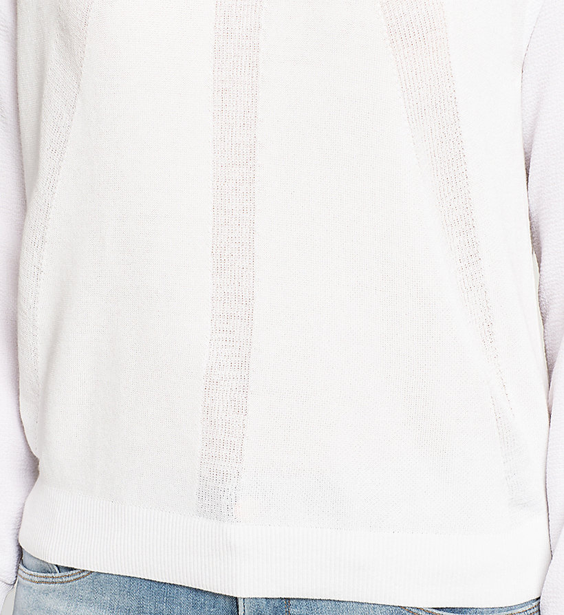 CKJEANS Material Mix Sweater - BRIGHT WHITE - CK JEANS JUMPERS - detail image 2