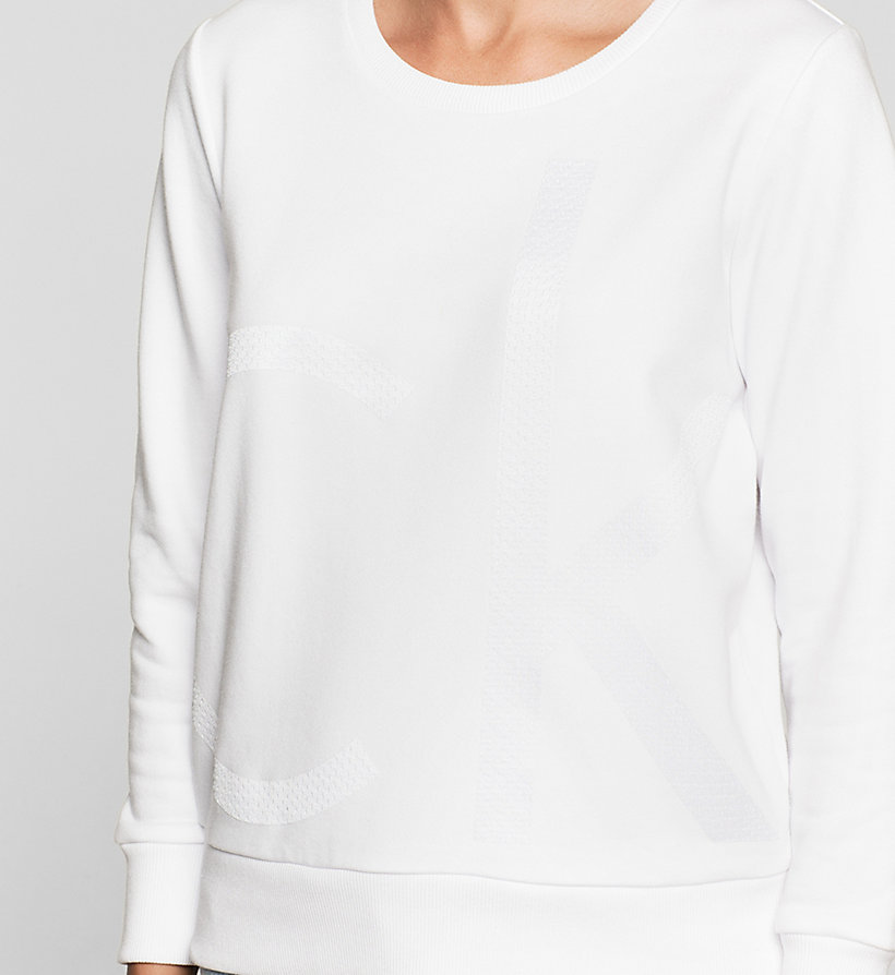 CKJEANS Logo Sweatshirt - BRIGHT WHITE - CK JEANS CLOTHES - detail image 2