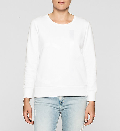 CKJEANS Logo Sweatshirt - BRIGHT WHITE - CK JEANS Up to 50% - main image