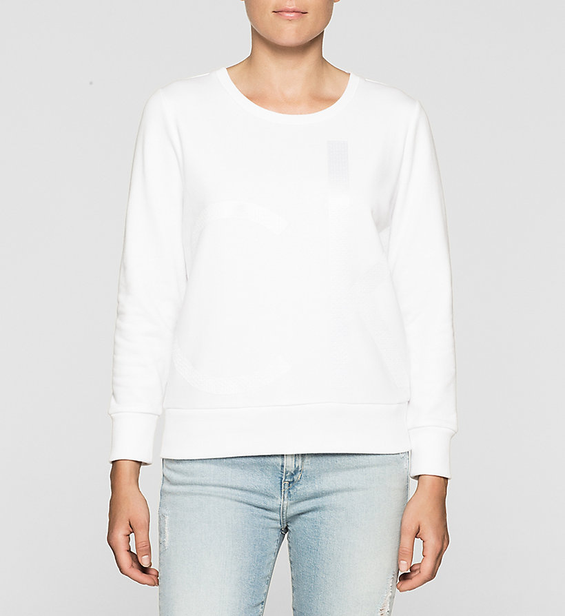 CKJEANS Logo Sweatshirt - BRIGHT WHITE - CK JEANS CLOTHES - main image