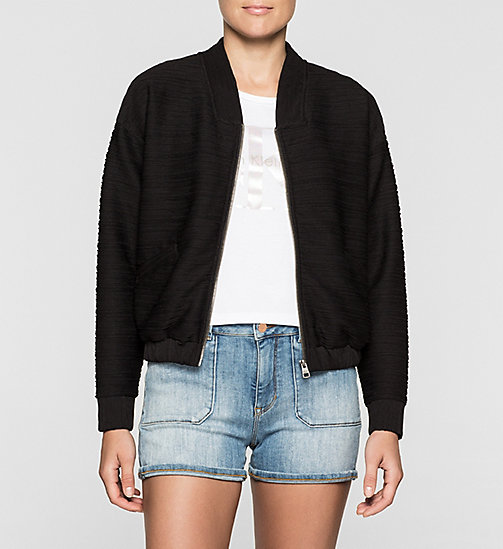 Giacca bomber in jersey - CK BLACK - CK JEANS INTIMO - immagine principale