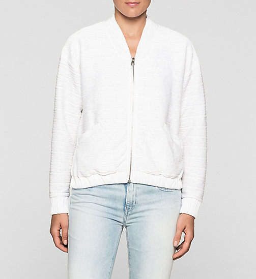 Jersey Bomber Jacket - BRIGHT WHITE - CK JEANS  - main image