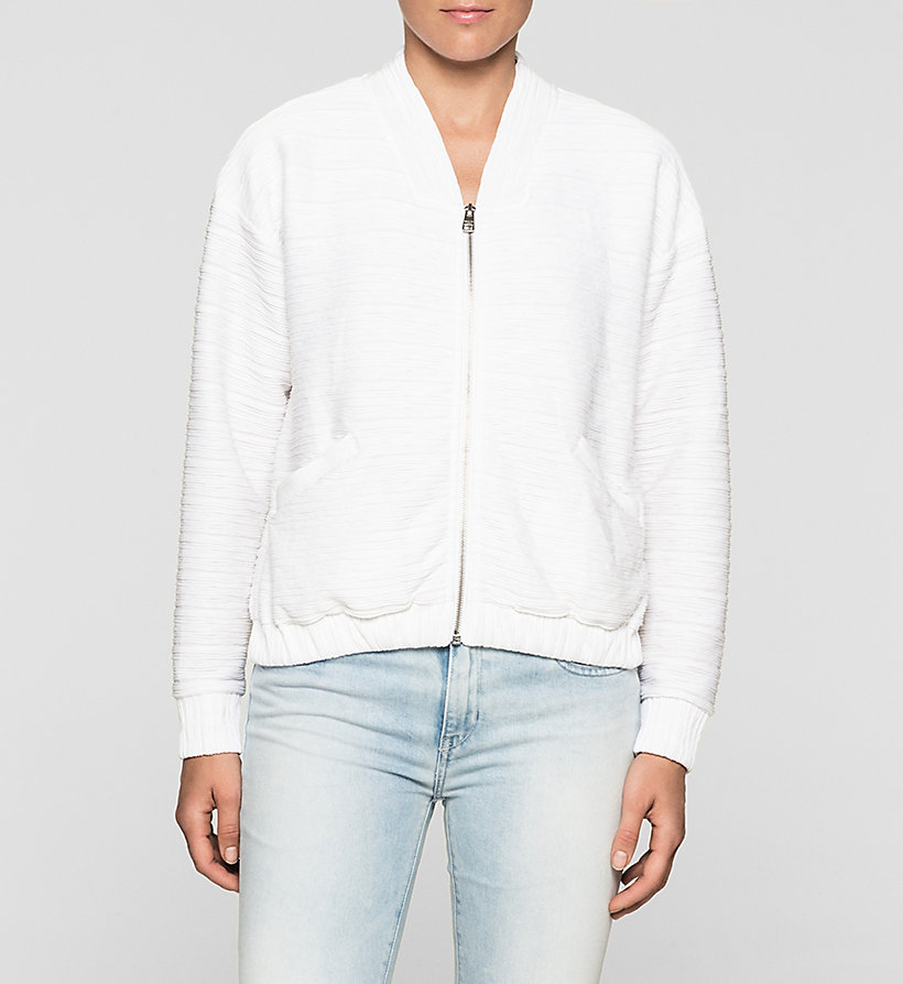 CKJEANS Jersey Bomber Jacket - BRIGHT WHITE - CK JEANS UNDERWEAR - main image