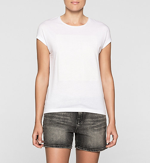 Straight T-shirt met logo - BRIGHT WHITE - CK JEANS T-SHIRTS - main image
