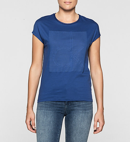 CKJEANS Straight Logo T-shirt - SODALITE BLUE - CK JEANS Up to 50% - main image