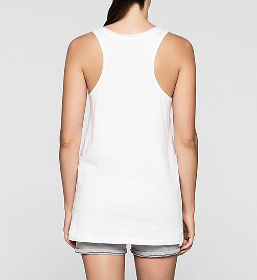 Long Tank Top - BRIGHT WHITE - CK JEANS T-SHIRTS - detail image 1
