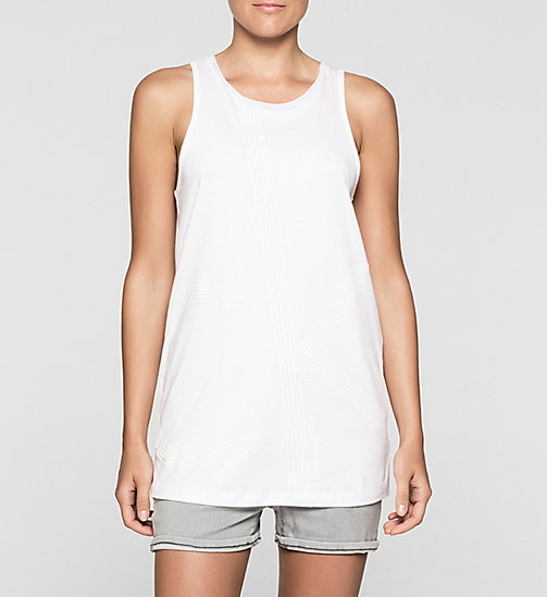 Long Tank Top - BRIGHT WHITE - CK JEANS T-SHIRTS - main image
