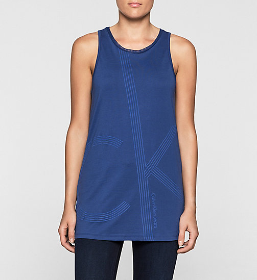 Long Tank Top - SODALITE BLUE - CK JEANS T-SHIRTS - main image