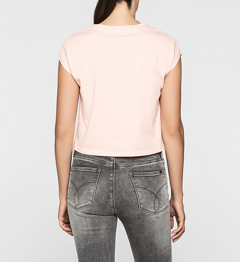 CKJEANS Cropped Logo T-shirt - MELLOW ROSE - CK JEANS CLOTHES - detail image 3