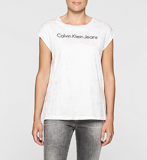 CKJEANS Straight Metallic Logo T-shirt - BRIGHT WHITE - CK JEANS  - main image